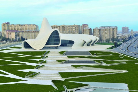 Heydar Aliyev Center progettato da Zaha Hadid - courtesy  Heydar Aliyev Center