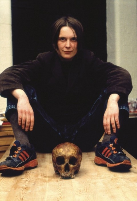 Sarah Lucas, Self-Portrait w. Skull, 1996 – Courtesy  artist/Sadie Coles HQ, London