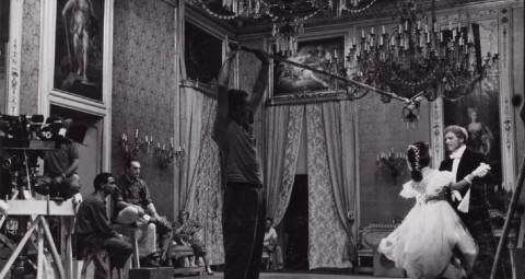 Giuseppe Rotunno e Luchino Visconti sul set de Il Gattopardo (1963)