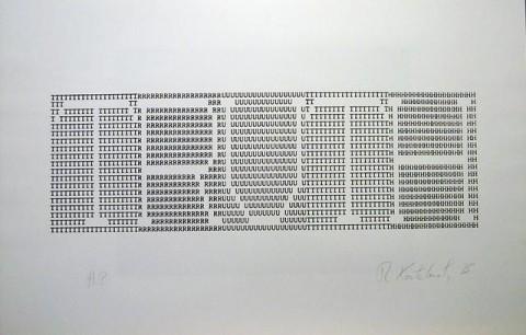 Richard Kostelanetz, Truth, 1975, Print, screenprint,