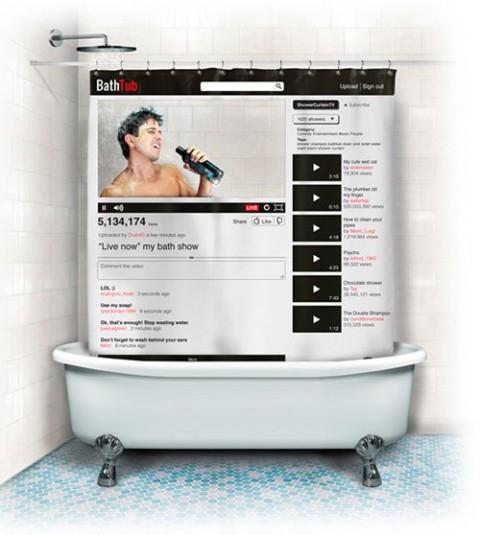 La tenda da doccia per Youtube celebrities