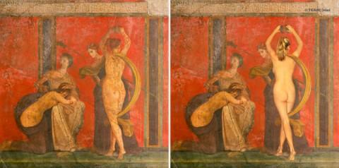 ErotiCAM. Gabinetto Segreto II - Flagellated woman and Bacchante. Claudia Feyerl - CAM, Casoria 2013