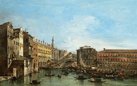 Francesco Guardi, Veduta del Canale Grande, dopo il 1754, olio su tela, cm 59,5 x 94,5 - Tolosa, Fondation Bemberg