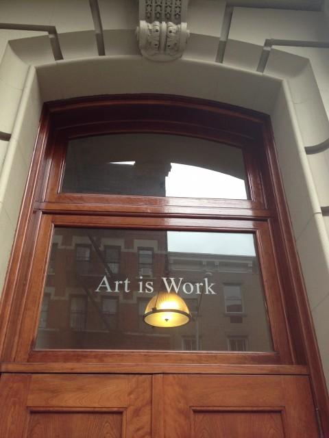 L'ingresso dello studio di Milton Glaser