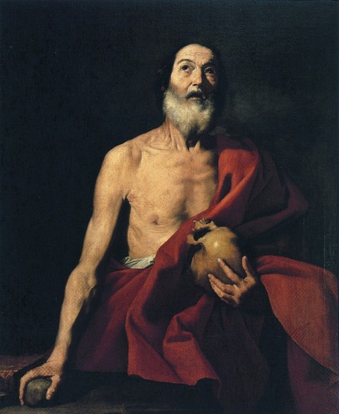 Jusepe de Ribera, San Girolamo collezione Sgarbi