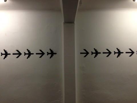 Riccardo Benassi - Techno Casa - veduta della mostra presso Marsèlleria, Milano 2013