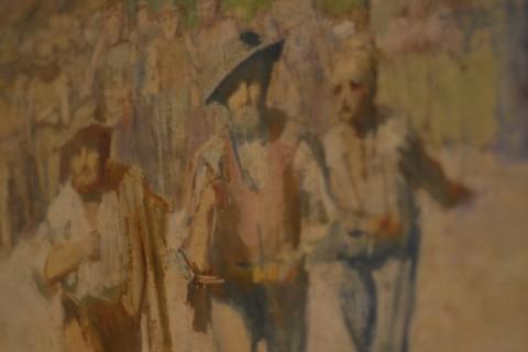 Pellizza da Volpedo, Ambasciatori della fame, olio su tela, (1892) cm 51,5 x 73 collezione privata