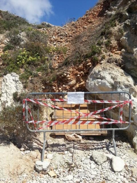 Cala Rotonda, Favignana - il sito sotto sequestro