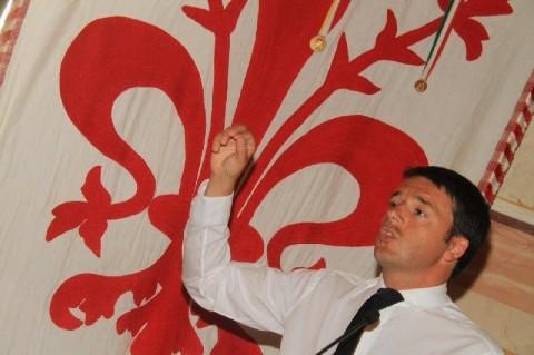 Matteo Renzi e il giglio di Firenze
