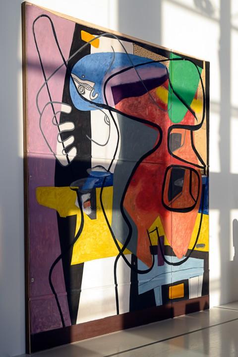 Le Corbusier et la question du brutalisme - veduta della mostra presso il J1, Marsiglia 2013 - photo Olivier Amsellem, FLC/ADAGP Paris2013