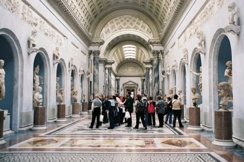 Visitatori ai Musei Vaticani