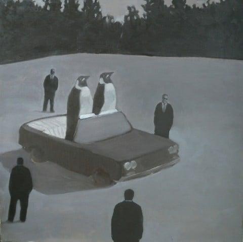 Radu Comsa, The President Stand-in, 2006 - olio su tela