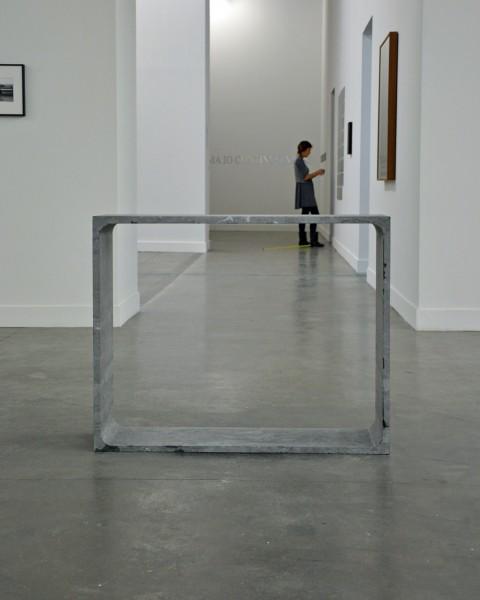 Francesco Arena, Il peso del mio corpo da un blocco di pietra del peso di una barca, 2010, pierre bleue, cm 100x80x32,8