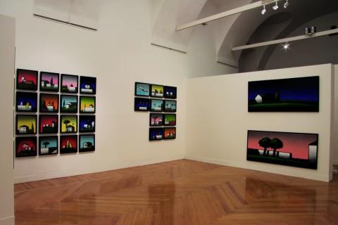 Tino Stefanoni - L'enigma dell'ovvio - veduta della mostra presso la Galleria Gruppo Credito Valtellinese, Milano, 2013 - photo Nino Lo Duca
