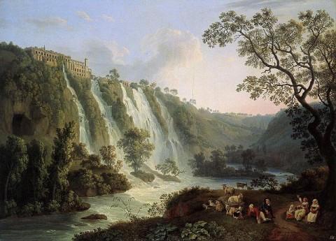 Jakob Philipp Hackert, Villa di Mecenate a Tivoli, 1783