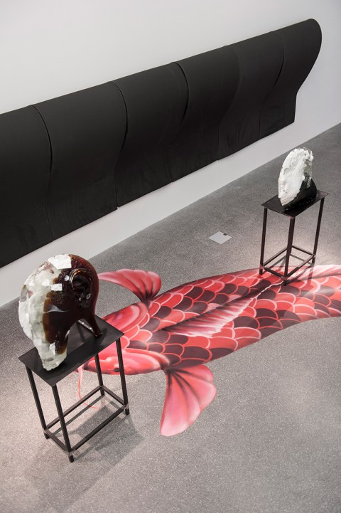 Diego Perrone - Il servo astuto - veduta della mostra presso Museion, Bolzano 2013 - photo Luca Meneghel - courtesy Courtesy Galleria Massimo De Carlo, Milano & Casey Kaplan, New York