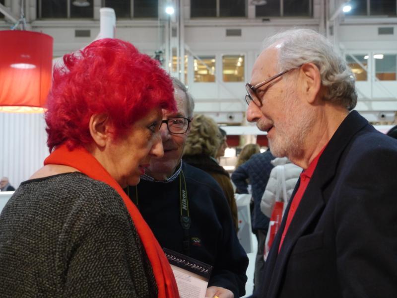 Emilio Isgrò con Lucia Spadano