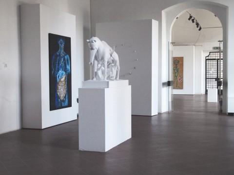 Leonardo Pivi - Terra bruciata - veduta della mostra presso FAR, Rimini 2014