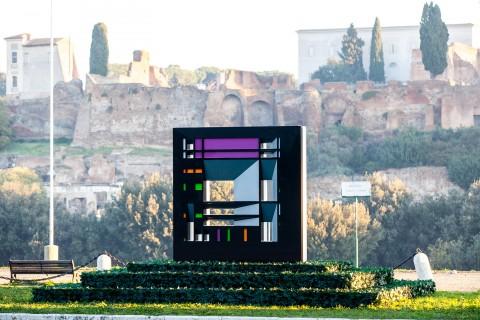 Francesco Visalli, Omaggio a Mondriaan, Roma