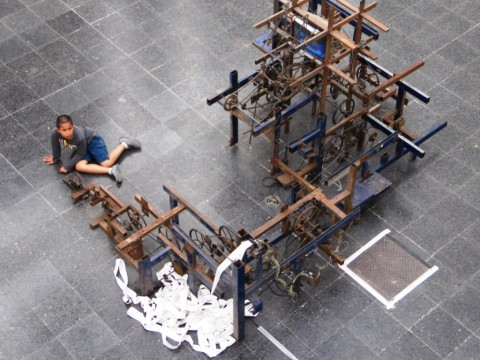 Arte Joven 03 - veduta della mostra presso il MAC Quinta Normal, Santiago del Cile 2013 - photo Mercedes Auteri