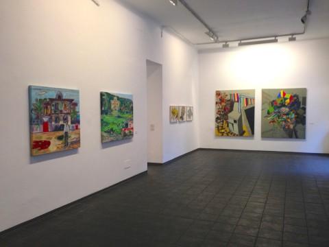 Nuova Pittura Italiana - veduta della mostra presso lo Studio d'Arte Cannaviello, Milano 2013