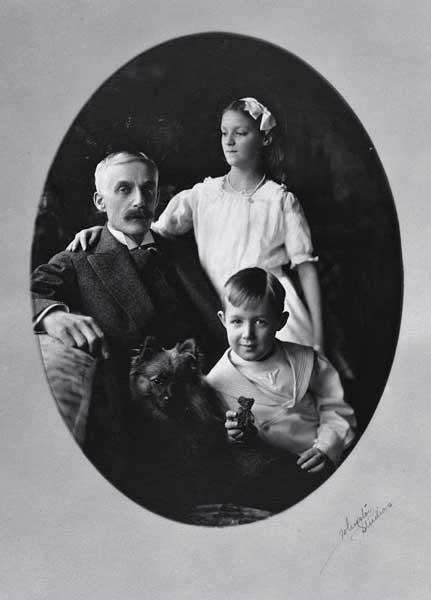 Andrew Mellon con i figli Ailsa e Paul