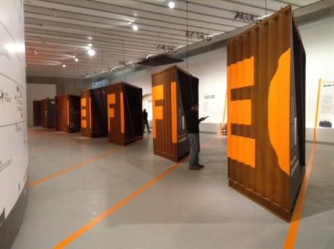 Erasmus Effect. Architetti italiani all'Estero - veduta della mostra presso il Maxxi, Roma 2014
