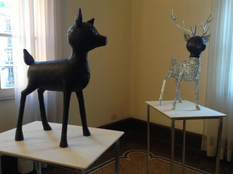 Intersezioni - veduta della mostra presso il Museo Andersen, Roma 2013