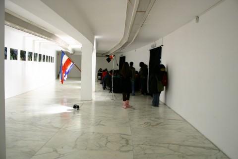 Lezione con l'artista Brunilda Lekunda negli spazi del MLAC – Museo Laboratorio di Arte Contemporanea, Roma 2005