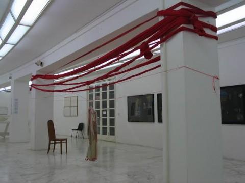 Uemon Ikeda, installazione per Rudolf Steiner nella mostra Das auge sieht nicht, MLAC – Museo Laboratorio di Arte Contemporanea, Roma 2004