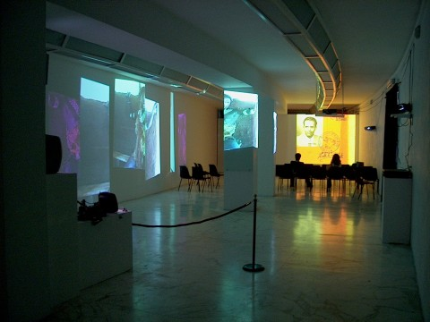 Theo Eshetu - Blood - veduta della mostra presso il MLAC – Museo Laboratorio di Arte Contemporanea, Roma 2003