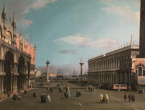 Canaletto, Venezia, la piazzetta con la biblioteca di San Marco, 1738 ca., Galleria Nazionale d'Arte Antica di Palazzo Barberini di Roma