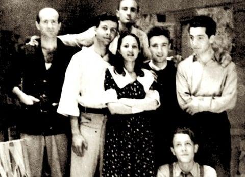 Foto storica del Gruppo Forma 1, nel 1947, con Carla Accardi al centro