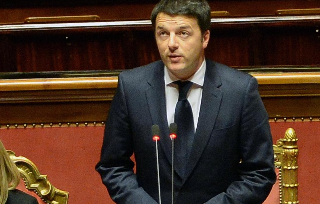 Matteo Renzi in Parlamento