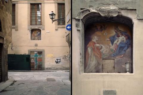 Firenze, la nicchia di via Borgognona