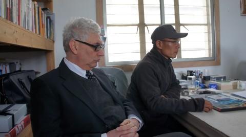 Demetrio Paparoni e Zhang Huan - Shanghai, 2011