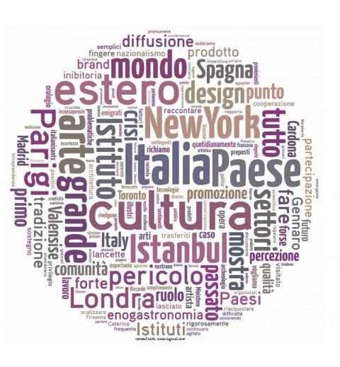 Il network degli Istituti Italiani di Cultura in formato word cloud
