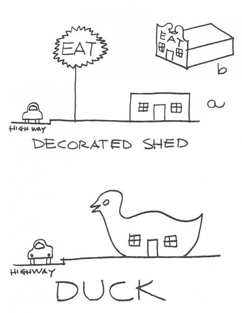 Robert Venturi - Sketch da Learning from Las Vegas