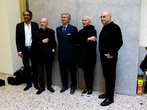 Da sinistra: Bijoy Jain, Mario Bellini, Claudio Luti, Doriana e Massimiliano Fuksas