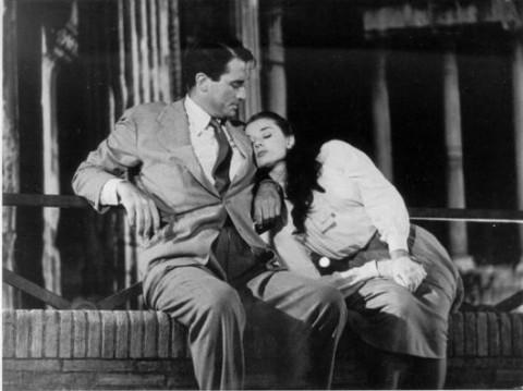 Gregory Peck e Audrey Hepburn in Vacanze romane (William Wyler 1953)