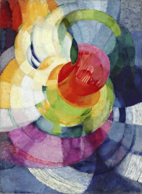 Frank (Frantisek) Kupka, Dischi di Newton(studio per Fuga in due colori), 1912 - olio su tela, cm 100,33 x 73,66 - Philadelphia Museum of Art - © Frank Kupka by SIAE 2014