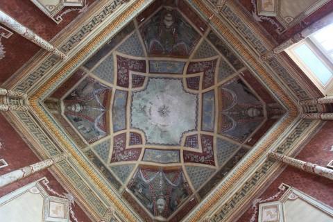 Castello di Rivoli - il soffitto del Salotto Cinese