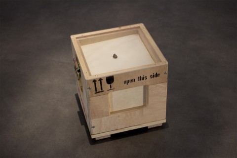 Katie Paterson, Second Moon, 2013 - Lunar meteorite, box - Photo © MJC - Courtesy of the artist