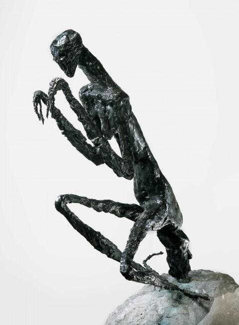 Germaine Richier, La Mante, 1946, bronze, 158 × 56 × 78 cm - Genève, Galerie Jacques de la Béraudière. © 2013, ProLitteris, Zurich - Photo : Droits réservés