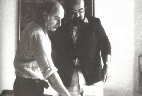 Emilio Mazzoli con Mimmo Rotella