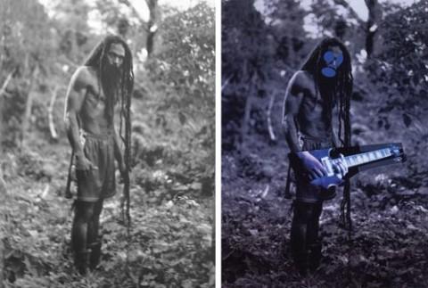 A sinistra la foto originale di Patrick Cariou, a detra la rielaborazione di Richard Prince