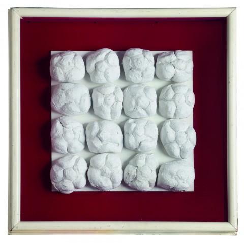 Piero Manzoni, Achrome, 1962 ca. - panini e caolino, 31 x 31 cm