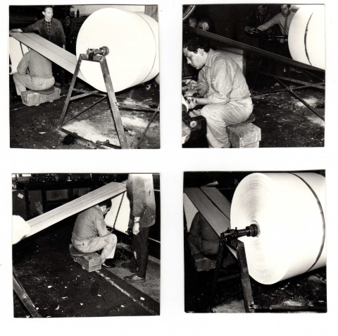 Piero Manzoni lavora alla Linea m 7.200, 4 luglio 1960 - photo Eva Sørensen