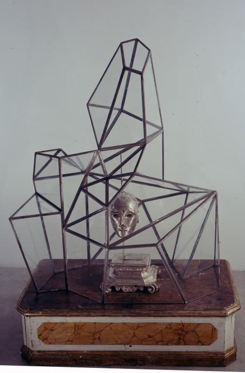 Mimmo Paladino, San Gennaro, 1991/2007 - bronzo, vetro e ferro su base in legno, 147 x 104,5 x 62 cm - Collezione dell'artista - photo Peppe Avallone