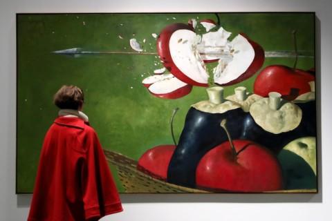 Julio Larraz - Del mare, dell'aria e di altre storie - veduta della mostra presso la Fondazione Puglisi Cosentino, Catania 2014 - photo Antonio Parrinello/Civita Sicilia